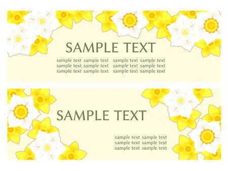Illustration frame of daffodil flowers Ilustrace