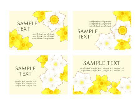 Illustration frame of daffodil flowers Illustration