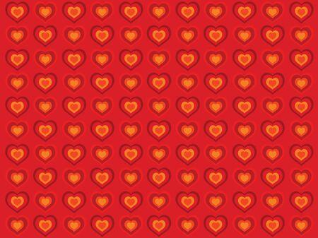 Red Heart Illustration Background