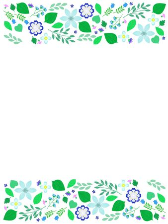 Blue Botanical Illustration Background