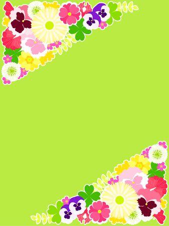 Illustration background of spring flowers