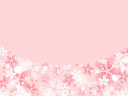 Pink cherry blossom illustration background 写真素材 - 139889507