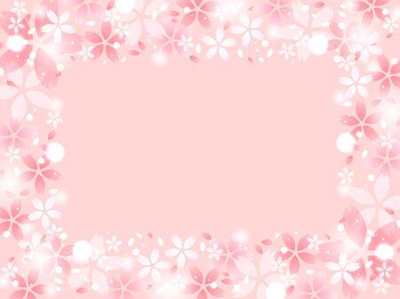 Pink cherry blossom illustration background  イラスト・ベクター素材