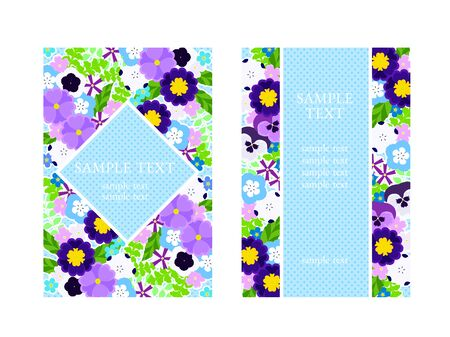 Blue Spring Flower Frame
