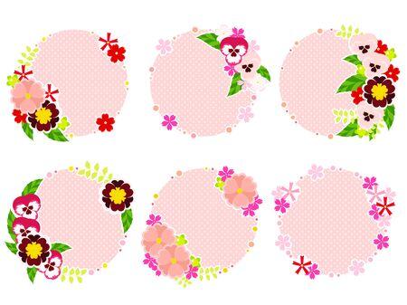 Pink Spring Flower Frame