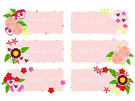 Pink Spring Flower Frame 写真素材 - 140334394