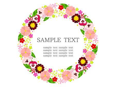 Pink Spring Flower Frame 写真素材 - 140334391