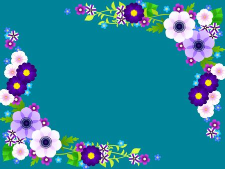 Spring Blue Flower Frame