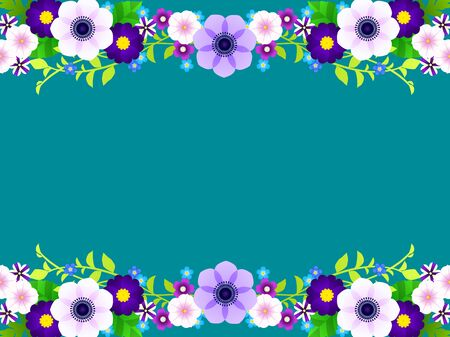 Spring Blue Flower Frame