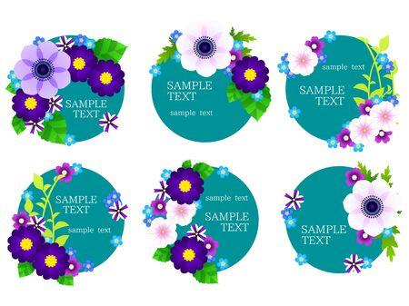 Spring Blue Flower Frame 写真素材 - 140397754