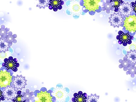 Illustration background of Hepatica
