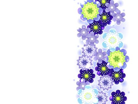 Illustration background of Hepatica