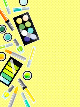 Illustration background of summer color cosmetics