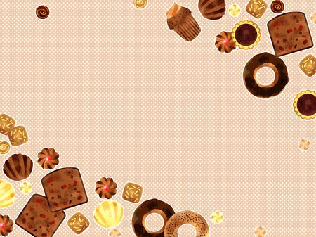 Chocolate Candy Illustration Frame