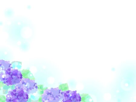 Illustration background of hydrangea  イラスト・ベクター素材