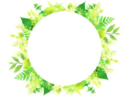 Green Plant Illustration Background