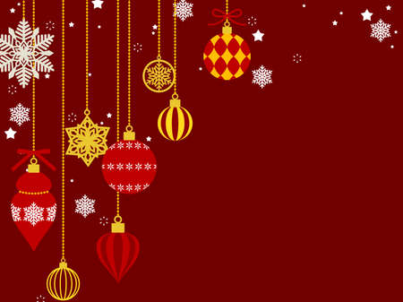 Illustration background of Christmas ornaments