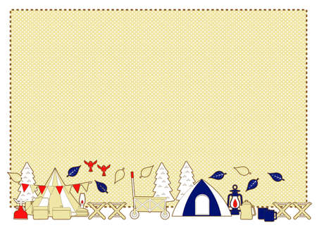 Background of the image illustration of a cute camp
