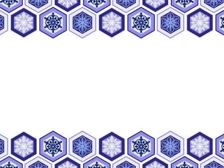 Illustrated background of snow, Japanese style