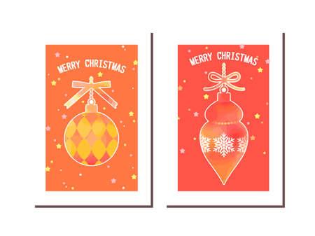 Christmas Ornament Illustration Card Ilustração