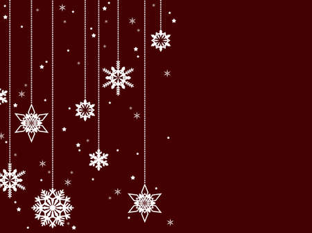Illustration background of a simple Christmas ornament