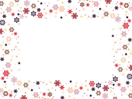 Cute background material of small snowflakes