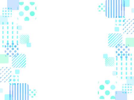 Blue pretty square pattern frame background Vektoros illusztráció
