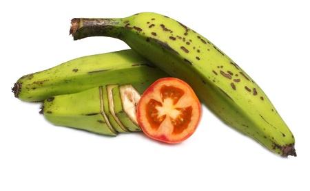 banana   tomato slice Stock Photo - 20430520