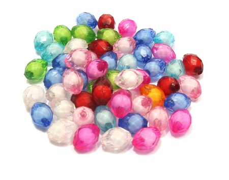 beads in white background Stock Photo