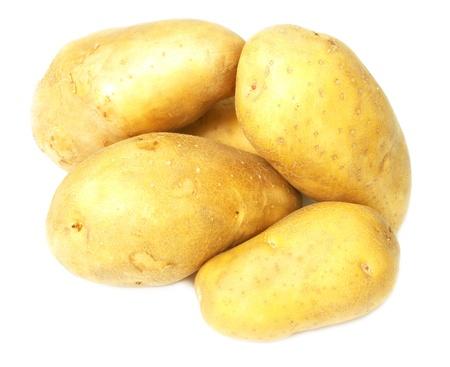 potato in white background Stock Photo
