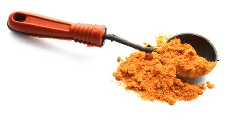 turmeric powder with wood spoon Stock Photo