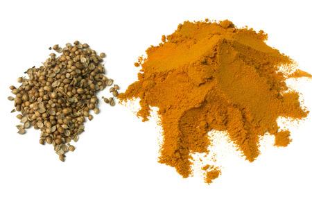 coriander powder Stock Photo