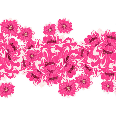 dulcet: seamless flower pattern Illustration