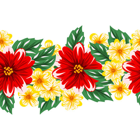 A vector seamless flower pattern for postcards.