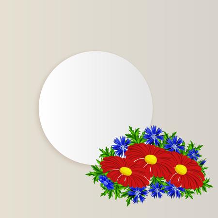 Frame with flowers for postcard Illustration