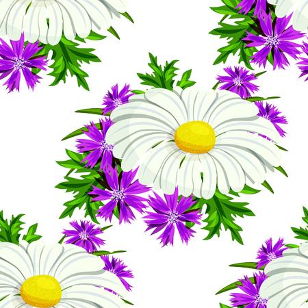 Flower pattern for cards. Illustration