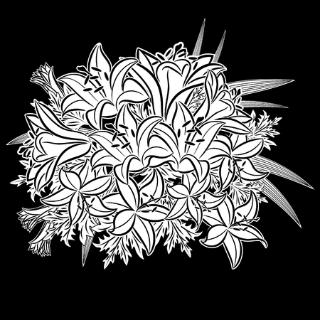 Bouquet of flowers icon. Illustration