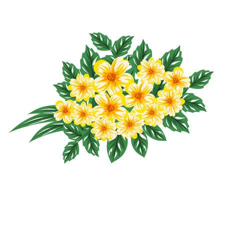 dulcet: composition of flowers Illustration
