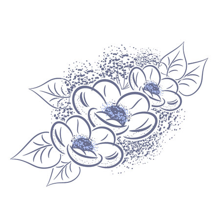 dulcet: Bouquet of delicate flowers for greeting card or wedding invitation