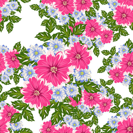 anniversary sale: vector seamless flower pattern for cards, textiles, backgrounds