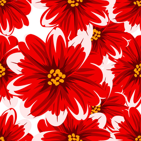nahtlose Blumenmuster für Grußkarte