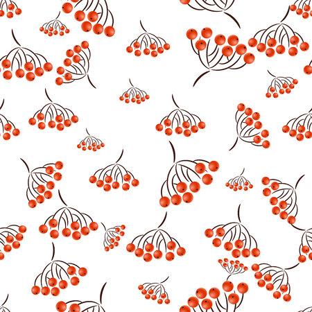 pattern seamless from autumn rowan brushes
