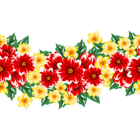 dulcet: seamless flower pattern for greeting card