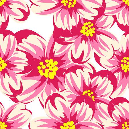 patrón de flores sin fisuras para tarjetas de felicitación