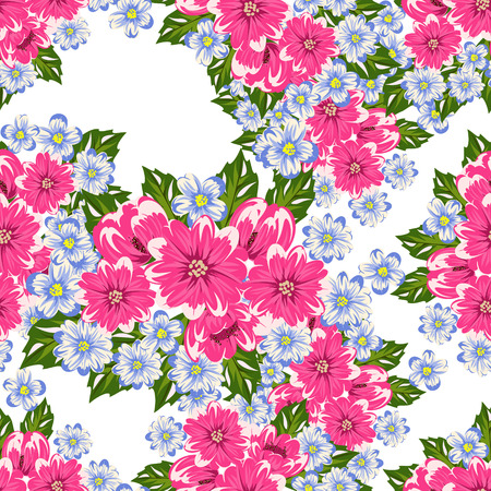 dulcet: Flower pattern for greeting card.