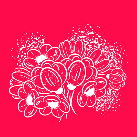 dulcet: bouquet  flowers for greeting card or wedding invitation