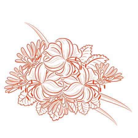 composition monochrome avec camomille et marguerites pour carte de voeux ou invitation de mariage