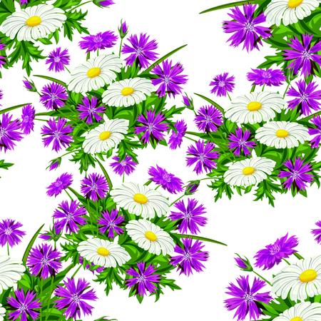 카드, 섬유, 배경 벡터 원활한 꽃 패턴