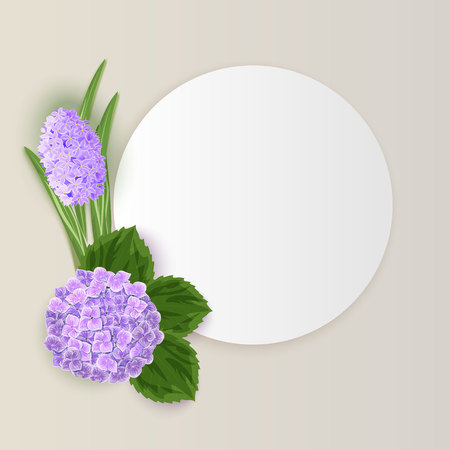 anniversary sale: vector frame with flowers for postcard, price tag, flyer