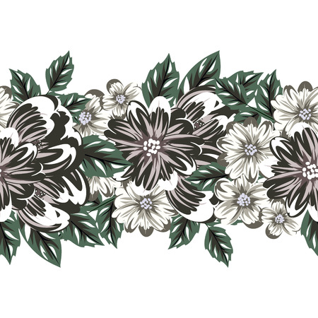 Vector seamless flower pattern for cards, textiles, backgrounds.